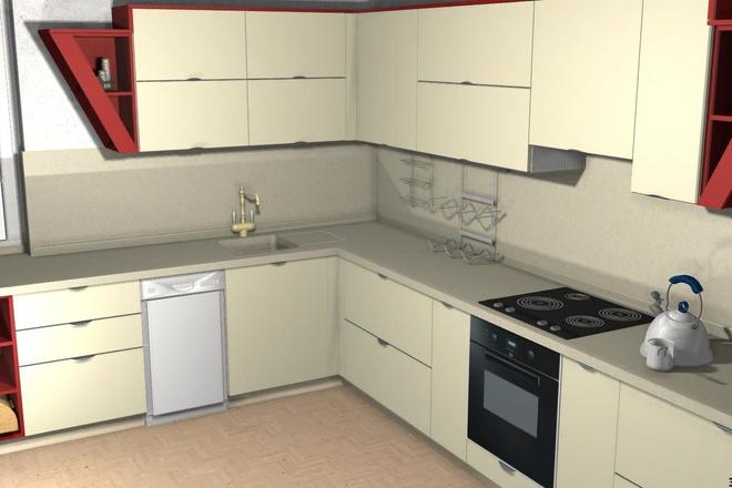 Создам 3D дизайн-проект кухни вашей мечты 13 - kwork.ru