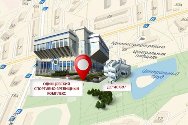 Красивая схема и карта проезда 11 - kwork.ru