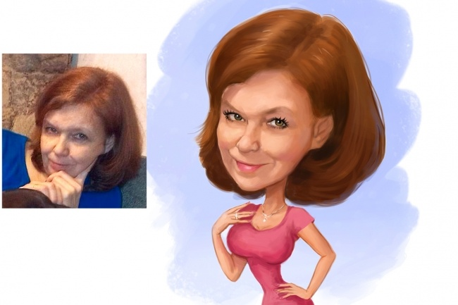 Дружеский шарж по фото, карикатура 26 - kwork.ru