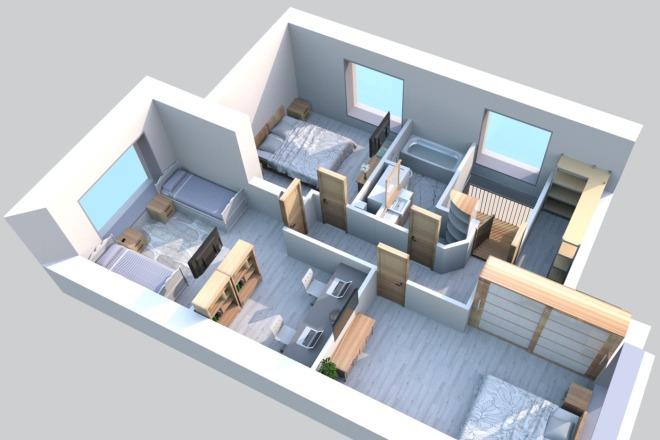 3d визуализация квартир и домов 17 - kwork.ru