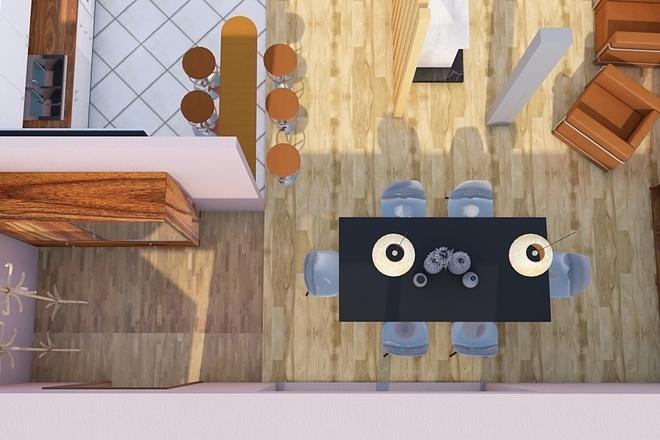 Создам планировку дома, квартиры с мебелью 45 - kwork.ru