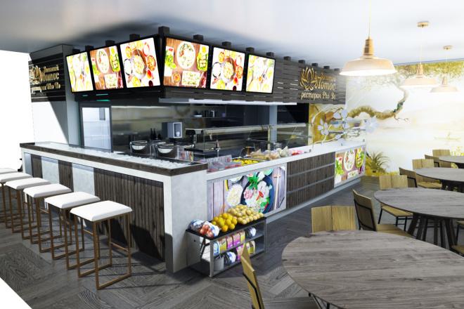 Интерьеры ресторанов, кафе 8 - kwork.ru