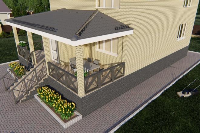 Фотореалистичная 3D визуализация экстерьера Вашего дома 70 - kwork.ru