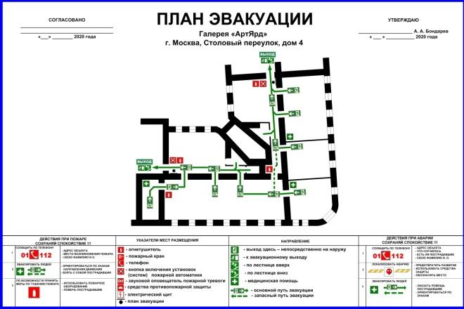 Разработка планов эвакуации по ГОСТ 2 - kwork.ru