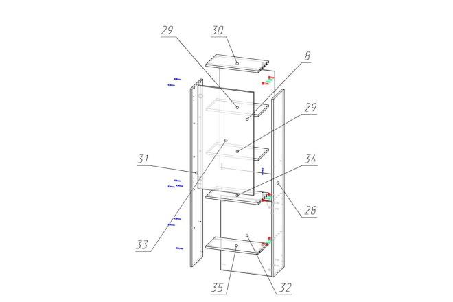 Конструкторская документация для изготовления мебели 142 - kwork.ru