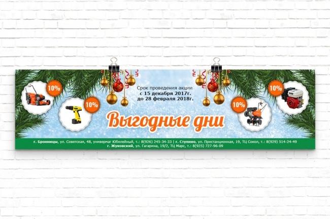 Дизайн баннера 69 - kwork.ru