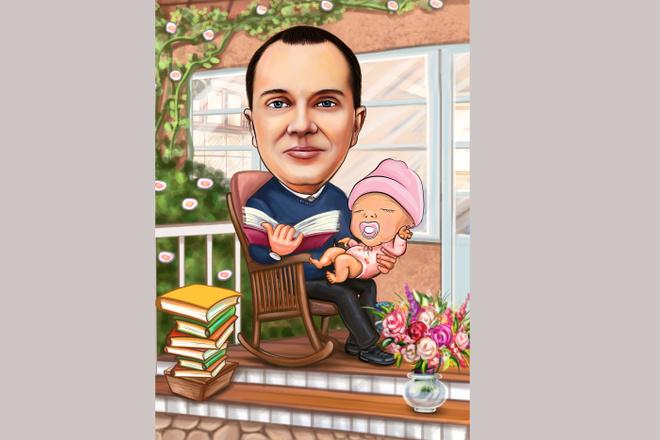 Шарж по фото 14 - kwork.ru