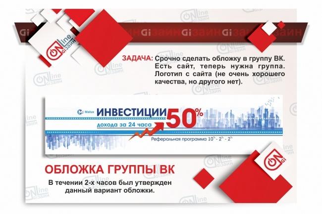 Разработаю дизайн группы вКонтакте 3 - kwork.ru