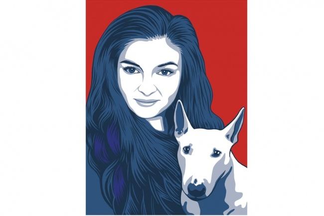 Нарисую поп-арт портрет по фото 3 - kwork.ru