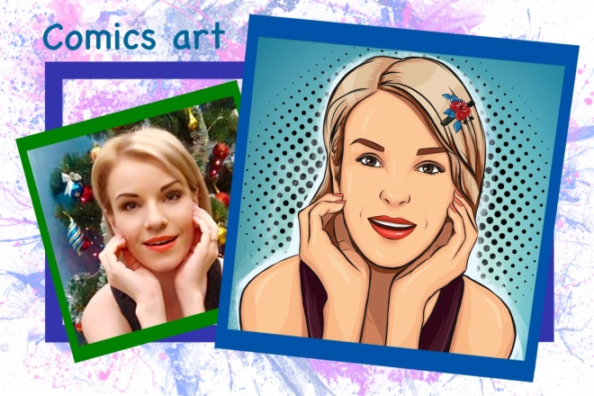 Нарисую портрет в стиле Pop Art,Comics Art, Stik Art 8 - kwork.ru