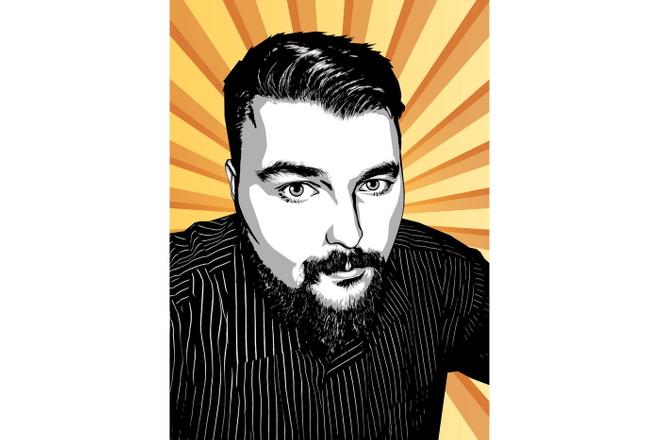Качественный поп-арт портрет по вашей фотографии 24 - kwork.ru