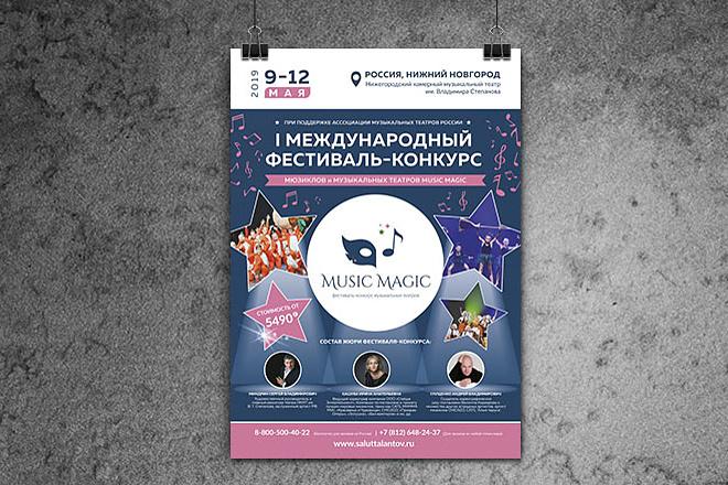 Дизайн постера, афиши 1 - kwork.ru