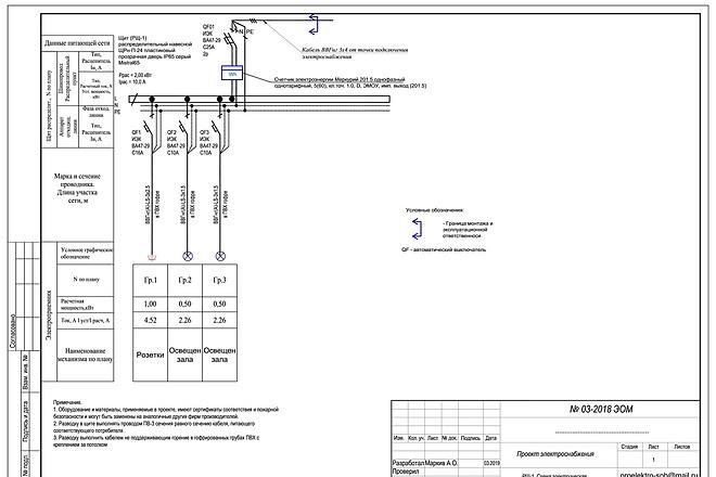 Выполню однолинейную схему электроснабжения 54 - kwork.ru
