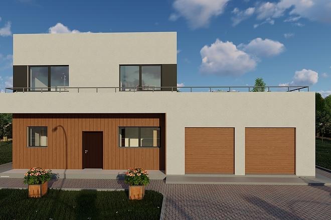 Фотореалистичная 3D визуализация экстерьера Вашего дома 145 - kwork.ru