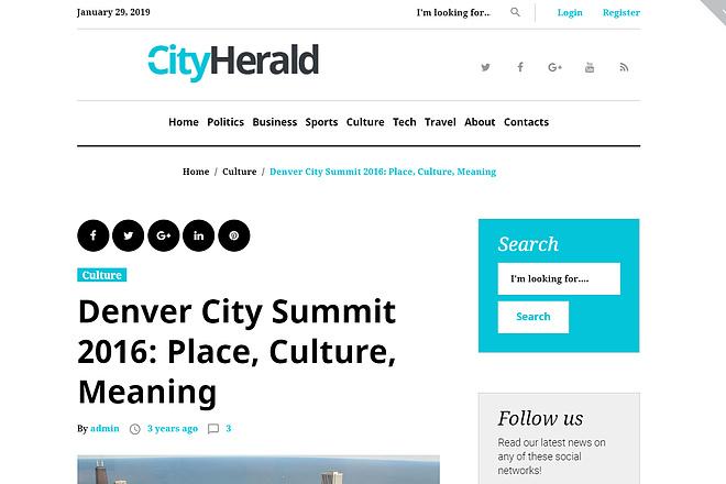 Премиум тема CityHelard для Wordpress + бонус 3 - kwork.ru