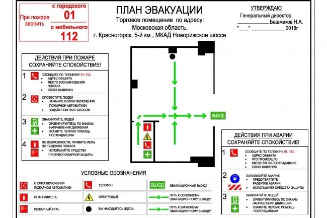 План эвакуации 8 - kwork.ru