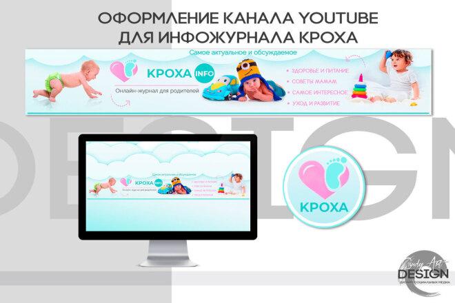 Оформление канала Ютуб. Дизайн шапки Youtube 6 - kwork.ru