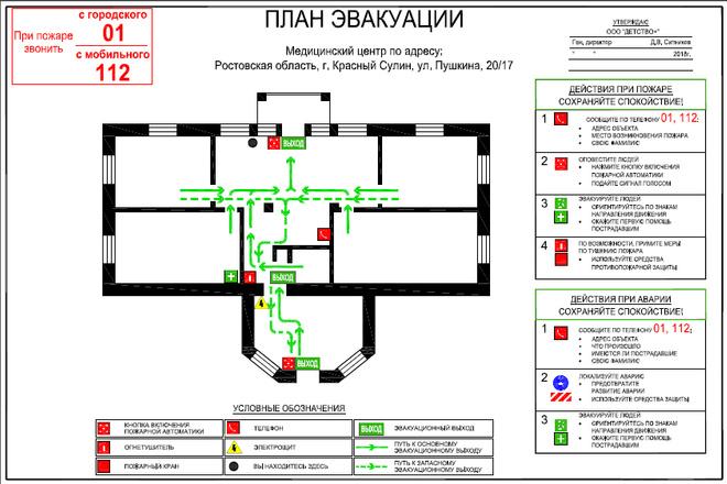 План эвакуации 7 - kwork.ru