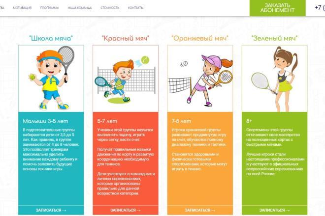Лендинг для любых целей на Wordpress 8 - kwork.ru