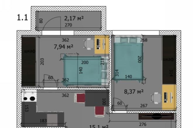 Интересные планировки квартир 47 - kwork.ru