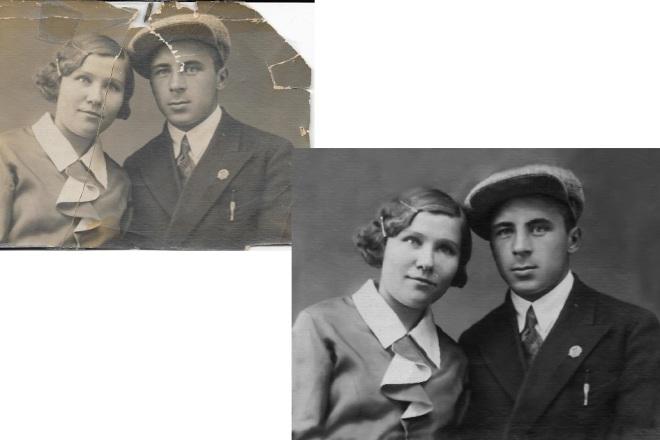Восстановление и реставрация старых фотографий 2 - kwork.ru