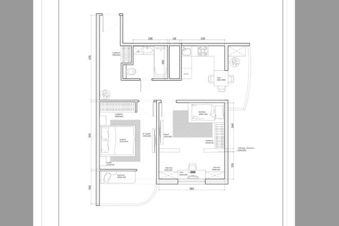 Планировочное решение вашего дома, квартиры, или офиса 6 - kwork.ru