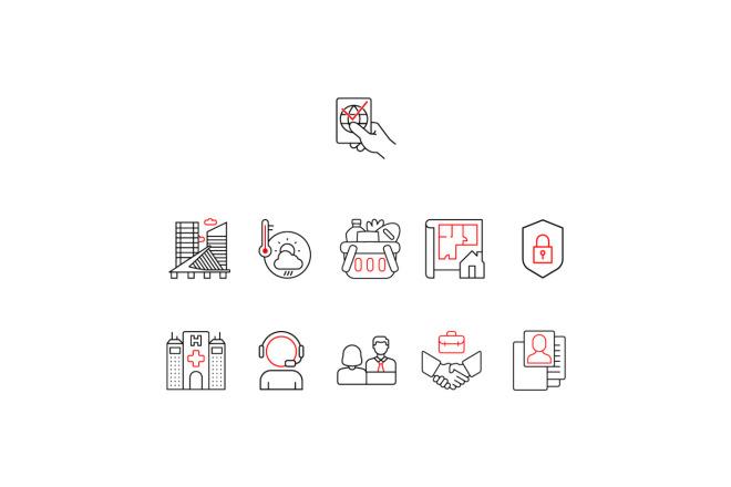 Создам 5 иконок в любом стиле, для лендинга, сайта или приложения 1 - kwork.ru