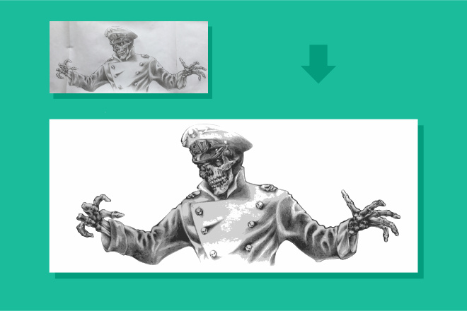 Преобразую в вектор растровое изображение любой сложности 49 - kwork.ru