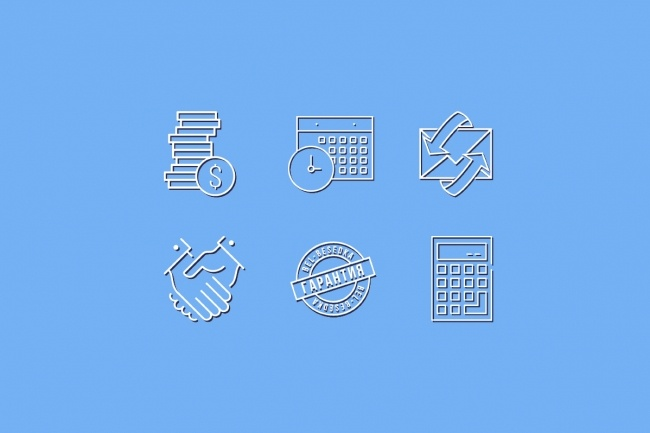 Нарисую 8 иконок 50 - kwork.ru