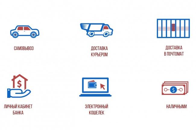 Нарисую 8 иконок 90 - kwork.ru