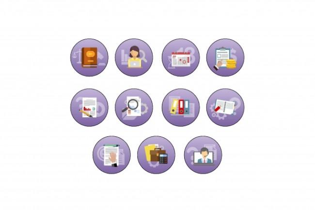 Нарисую 8 иконок 36 - kwork.ru