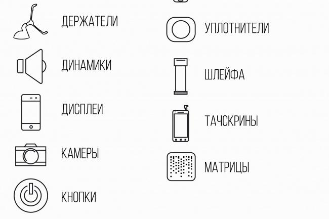 Нарисую 8 иконок 88 - kwork.ru