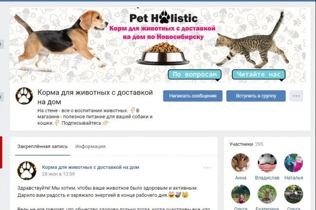 Оформление шапки ВКонтакте. Эксклюзивный конверсионный дизайн 42 - kwork.ru