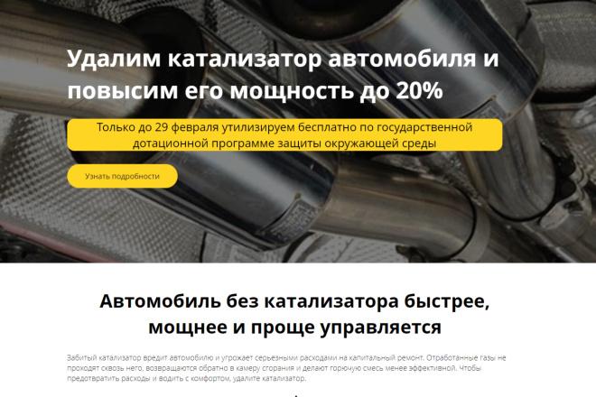 Копия сайта, landing page + админка и настройка форм на почту 27 - kwork.ru
