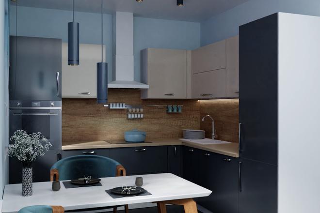 Дизайн-проект кухни. 3 варианта 19 - kwork.ru