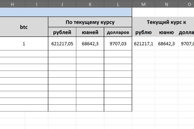 Макрос или формула Excel 8 - kwork.ru