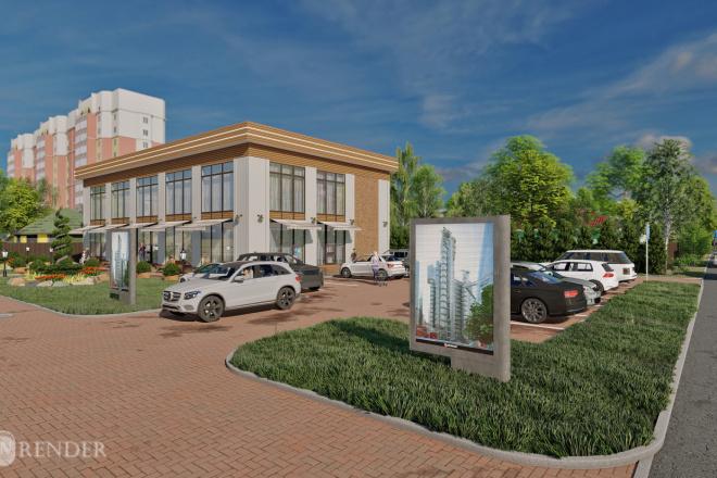 3D Визуализация коммерческих и административных зданий 4 - kwork.ru