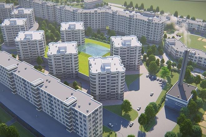 3д моделирование и визуализация экстерьеров домов 15 - kwork.ru