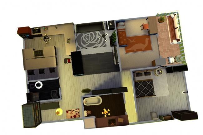 3d визуализация квартир и домов 29 - kwork.ru