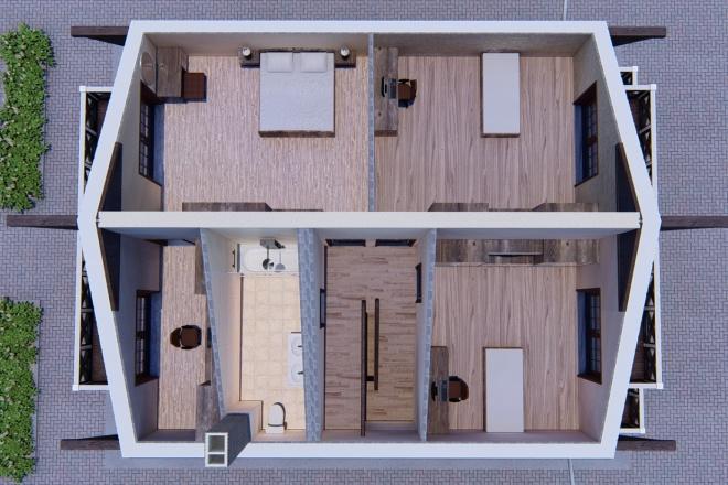 Фотореалистичная 3D визуализация экстерьера Вашего дома 115 - kwork.ru