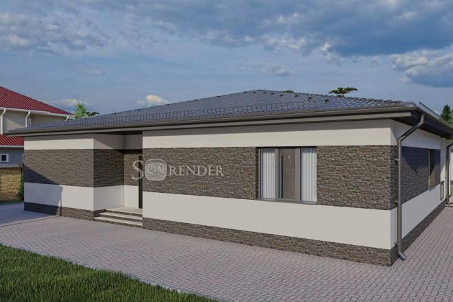 Фотореалистичная 3D визуализация экстерьера Вашего дома 44 - kwork.ru