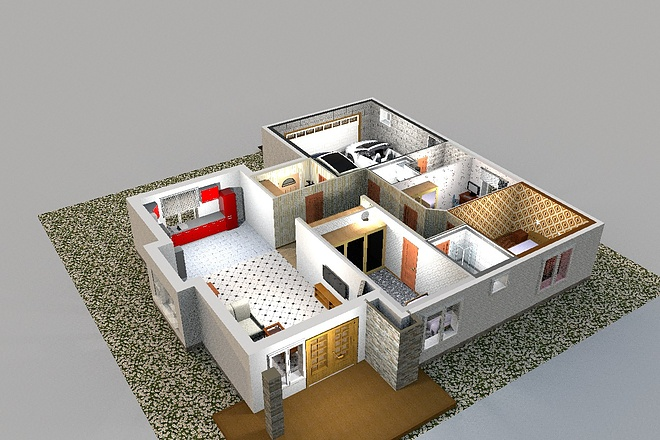 3D визуализация помещений 21 - kwork.ru