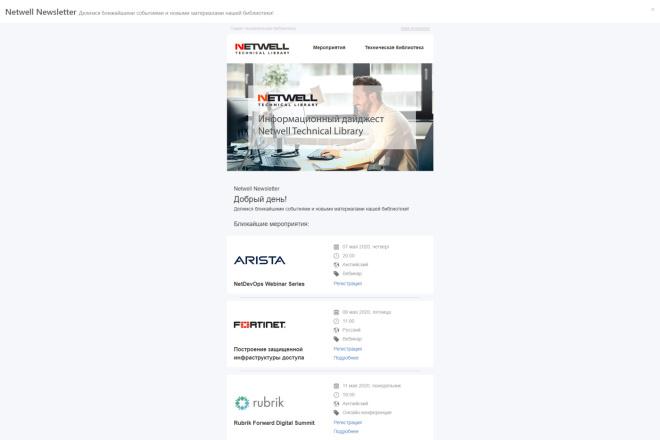 Верстка адаптивного HTML письма для e-mail рассылок 7 - kwork.ru