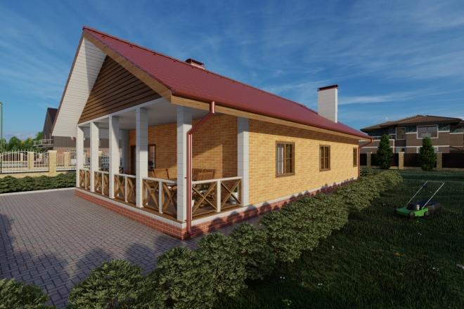 Фотореалистичная 3D визуализация экстерьера Вашего дома 100 - kwork.ru
