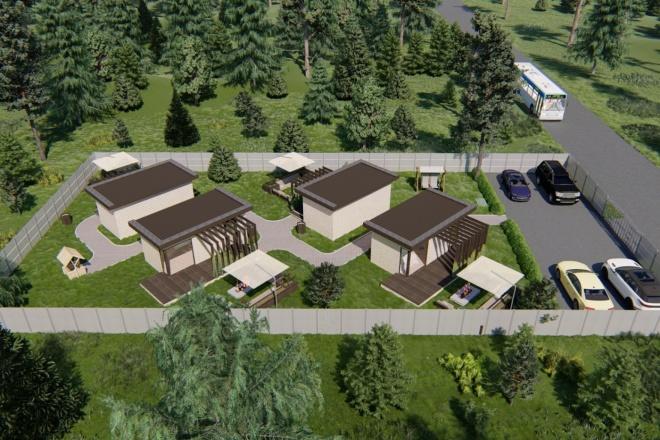 Фотореалистичная 3D визуализация экстерьера Вашего дома 185 - kwork.ru