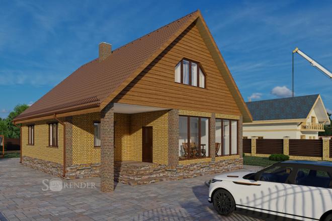 Фотореалистичная 3D визуализация экстерьера Вашего дома 55 - kwork.ru