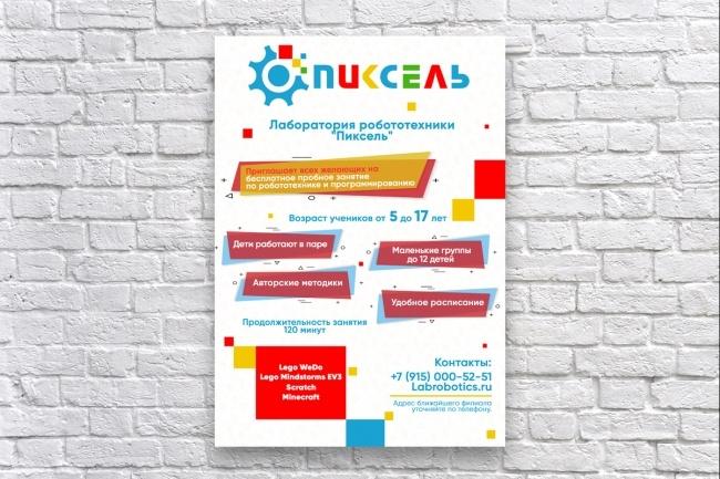 Дизайн постера 22 - kwork.ru