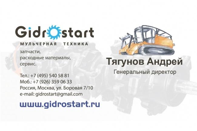 Визитки на заказ 2 - kwork.ru
