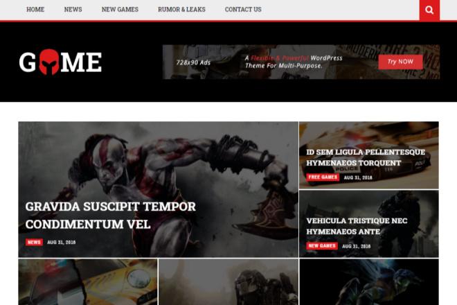 Magneto - новостная - журнальная multi concept Wordpress тема 1 - kwork.ru
