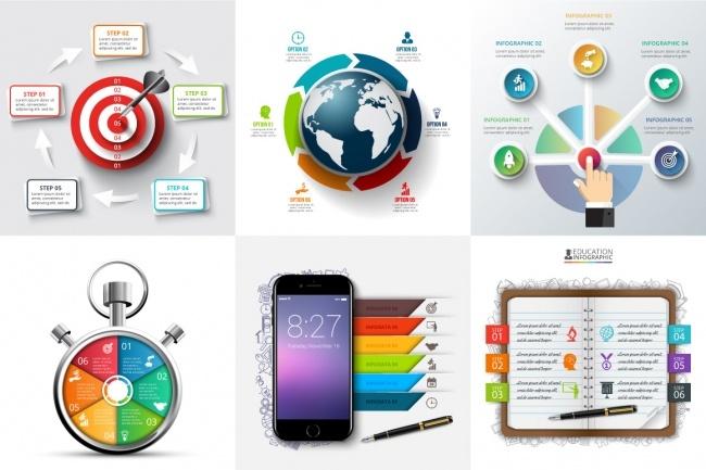 Набор инфографики. 13 тематик, 800 шаблонов, 2 пакета иконок 22 - kwork.ru